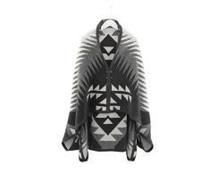 biederlack Bocasa Orion Cape Decke Überwurf, Baumwollmischung, Ikat Style, 50 x 38 x 13 cm