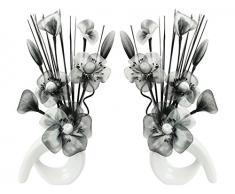 Flourish Deko Künstliche Blumen, White/Black, 32cm
