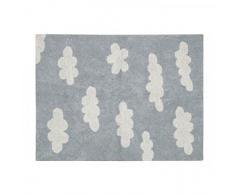 Lorena Canals Wolken waschbarer Teppich, Baumwolle, Grau, 120Â x 160Â x 30Â cm