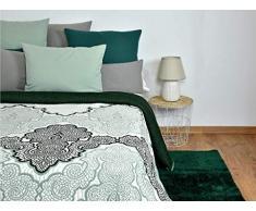 MI CASA Tagesdecke, Baumwolle, Grün, 250 x 265 cm (150 cm)