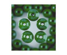 Holzperle 6mm Farbe Grün mit Bohrung 110St. [Spielzeug]