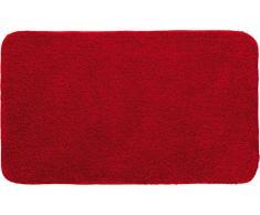 Grund Badematte 32 mm 100% Polyacryl, Ultra Soft und saugfähig, Badteppich Rutschfest, ÖKO-TEX-Zertifiziert, 5 Jahre Garantie, LEX, Badteppiche 80x140 cm, Rubin