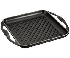Le Creuset 20127000000460 Grillplatte quadratisch 24 x 24 cm schwarz