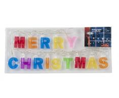 Led Lichterkette Merry Christmas Leuchte Kette Christbaumschmuck inkl. Batterien