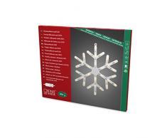 Konstsmide 4581-000 LED Dekoration Fenstersilouhette Schneeflocke/für Innen (IP20)/230V Innen/mit Schalter/30 warm weiße Dioden/weißes Kabel
