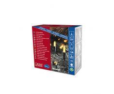 Konstsmide 6020-000 LED Minilichterkette / für Außen (IP44) / 24V Außentrafo / 80 gelbe Dioden / grünes Kabel