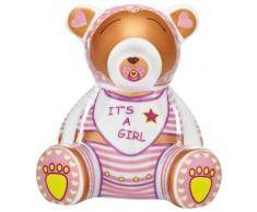 Ritzenhoff 2590012 Mini Teddy Bär A. Mendil, Mädchen, H12 Bank Spardose, Porzellan, bunt, 7,5 x 9,5 x 10,5 cm