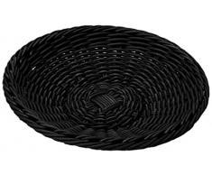Saleen Korb-Schale, Gastrotauglich, Rund, Durchmesser: 38 cm, Kunststofffaser, Schwarz, 02055119101