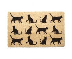 Puckator I Love My Cat Fußmatte, Katze, Kokosfaser, Braun, 75 x 2 x 45 cm