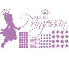 Graz Design 770092_100x57_042 Wandtattoo Set Kinderzimmer Mädchen Sterne Spruch kleine Prinzessin 100x57cm Flieder