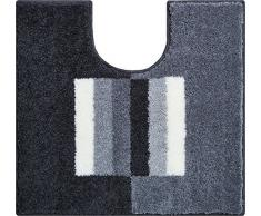 Linea Due Badteppich 100% Polyacryl, ultra soft, rutschfest, CAPRICIO, WC-Vorlage m.A. 55x60 cm, grau