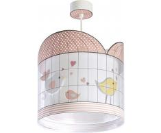 Dalber Kinder Hängelampe Vögel Little Birds rosa, Polypropylen, 60 W