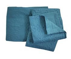 , Tagesdecke und Kissenhüllen, 250 x 260 cm), Ceylan, blau