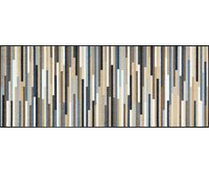 wash + dry 079354 Mikado Stripes nature Fußmatte Acryl 75 x 190 x 0.7 cm, bunt