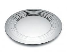 Alessi Tischdekoration, Tablett, Edelstahl, Silber, 10 x 50 x 20.5 cm