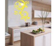 INDIGOS 4052166145107 Wandtattoo w659 schöne Tribal Blatt Wandaufkleber 120 x 90 cm, gelb