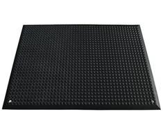 Arbeitsplatzmatte, schwarz - aus Polyurethan - LxB 950 x 650 mm - Arbeitsplatzmatte Arbeitsplatzmatten Bodenbelag Bodenmatte Bodenschutzmatte