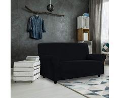 PETTE Sofabezug aus italienischem Stil Poltrona (75 a 120 cm) Schwarz