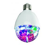 EASYmaxx 05783 LED-Partyleuchte Deluxe mit Musiksensor | Lichteffekte & Farbwechsel zum Beat der Musik | Mit Fernbedienung | Für alle Lampen mit E 27-Fassung