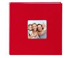 Goldbuch Foto Einsteckalbum Living Red, Fotoalbum für 200 Fotos im Format 10 x 15 cm, Memoalbum mit Bildausschnitt, Fotobuch mit Einband in Leinenoptik, Album zum Einstecken, 17 192, Papier, Rot