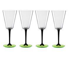 Bohemia Cristal B010241101 Weingläser Manhattan, 4-er Set, 240 ml, neon / grün