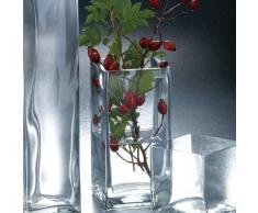 Sandra Rich 360017 Vase, Glas, transparent, 10 x 10 x 10 cm