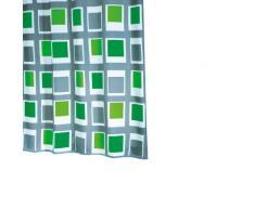 Ridder 429350-350 Duschvorhang Textil 180 x 200 cm Up und Down grün