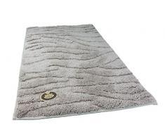 Gözze Badteppich, Mikrofaser Hochflorteppich, 50 x 70 cm, Welle, Sand, 1034-73-050070