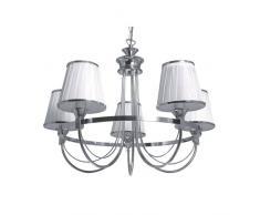Spot-Light Kronleuchter Porta 5-flammig, chrom / weiß SP-5114528
