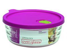 LOCK & LOCK LLG761 Ovenglas für Mikrowelle und Ofen, Glas, tranparent, 14.3 X 6.4 X 6.4 cm