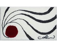 Grund COLANI Exklusiver Designer Badteppich 100% Polyacryl, ultra soft, rutschfest, ÖKO-TEX-zertifiziert, 5 Jahre Garantie, Colani 18, Badematte 60x100 cm, weiss
