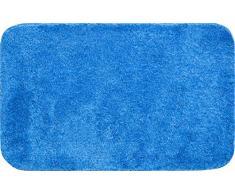 Grund Badteppich 32 mm 100% Polyacryl, ultra soft, rutschfest, ÖKO-TEX-zertifiziert, 5 Jahre Garantie, LEX, Badematte 50x80 cm, jeansblau