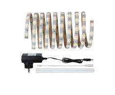 Paulmann 705.10 Function YourLED Basisset 3m IP44 Shrink Warmweiß 7,5W 230/12V Niedervolt 18VA 70510 LED Lichtband Lichtstreifen Lichtschlauch
