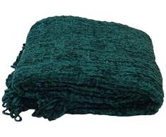 Rapport Zara 100% Baumwolle Überwurf, 150 x 200 cm, Baumwolle, blaugrün, Einzelbett