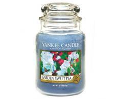 Yankee Candle 1152860E Duftkerze Glas, 9,80 x 9,80 x 17,50 cm, blau