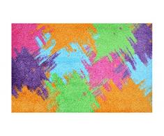 LifeStyle-Mat 200489 Pop Up, rutschfeste und waschbare Fußmatte, ideal für den Eingang, die Garderobe oder Küche, 50 x 75 cm, farbmix