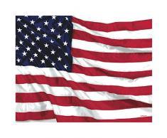 Tischdecke USA Amerika (137 x 259 cm) , Papier , Tischdeko