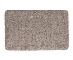 andiamo Fußmatte Samson, waschbare & resistente Türmatte aus 100% Baumwolle, Größe:60x100cm, Farbe:Granit