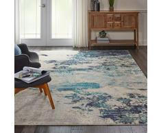 NOURISON Sublime Teppich, Polypropylen, Elfenbein Blaugrün, 22X76