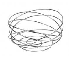 Equinox 508157 Obstkorb, Drahtgewinde, Durchmesser 24 cm, Chrom