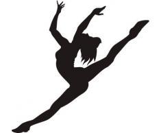 Indigos WG30036-70 Wandtattoo w036 Ballerina Sexy Frau Girl Wandaufkleber 120 x 115, Schwarz