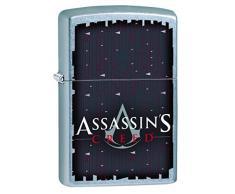 Zippo 16759 Assassins Creed - Street Chrome Feuerzeug, Chrom, Silber, 5.8 x 3.8 x 2.0 cm