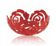 Alessi La Rosa, Schale aus Edelstahl, epoxidharzlackiert, Flower Red