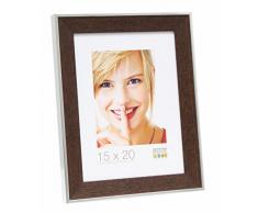 Bilderrahmen mit Aufsteller Farbe: Braun / Silber, Größe (Bild): 15 cm H x 10 cm B