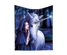 Nemesis Now Solace Anne Stokes Überwurf, Polyester, Einheitsgröße, 38 cm, Blau