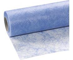25m Sizoflor ® Original Tischband Tischläufer Tischdeko Faserseide 30cm / 300mm, Farbe:hellblau