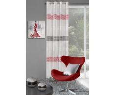 Eurofirany ZAS/KATE/K+CZ Vorhang Ösenschal Kate, Polyester, rot, 0.02 x 140 x 250 cm