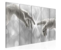 Bilder Erschaffung Adams Michelangelo Wandbild 150 x 60 cm Vlies - Leinwand Bild XXL Format Wandbilder Wohnzimmer Wohnung Deko Kunstdrucke 5 Teilig MADE IN GERMANY Fertig zum Aufhängen 612056b