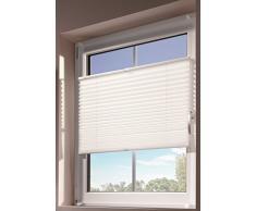 mydeco® 60x130 cm [BxH] in weiß - Plissee Jalousie ohne bohren, Rollo für innen incl. Klemmträger (Klemmfix) - Sonnenschutz, Sichtschutz für Fenster