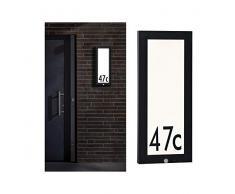 Paulmann 94256 Outdoor Panel LED Außenleuchte eckig incl. 1x10 Watt Anthrazit Aluminium 3000 K Warmweiß, 10 W
